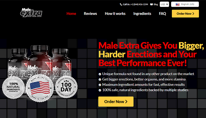 male extra uk official website